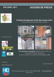 Dossier de presse relatif à la création d'un logement social ...