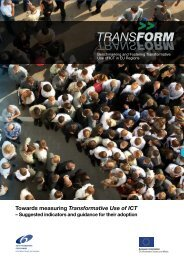 Towards Measuring Transformative Use of ICT - Indicator Briefing