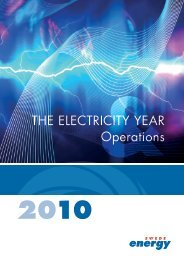 the electricity year Operations - Svensk energi