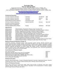 Curriculum Vitae - Department of Chemistry - University of Hawaii