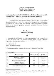 Uchwała Nr XXX/160/2005 Rady Powiatu w Radziejowie z dnia 30 ...