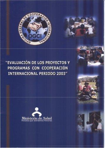 EVALUACION DE LOS PROYECTOS Y PROGRAMAS CON ...