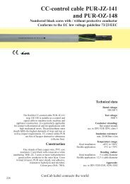 CC-control cable PUR-JZ-141 and PUR-OZ-148 - ConCab kabel ...