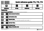 Quick reference guide 772, 773, 774 - Danaher Specialty Products