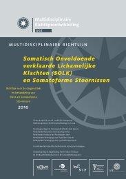 (SOLK) en Somatoforme Stoornissen - Trimbos-instituut