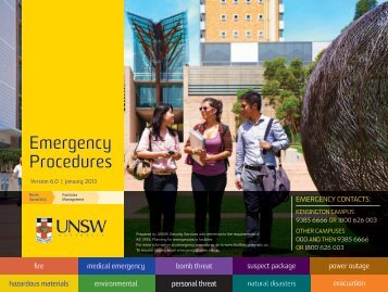 emergency procedures - UNSW Facilities Management