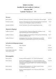 Jahresinhaltsverzeichnis 2009 - beim Landkreis Cuxhaven