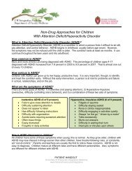 Non-Drug Approaches For Children With Attention Deficit