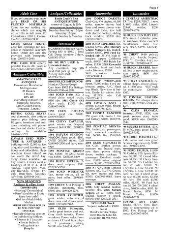 111209 classified ads - Battle Creek Shopper News