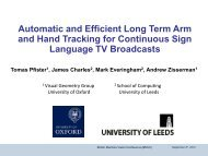 Automatic sign language recognition - VideoLectures