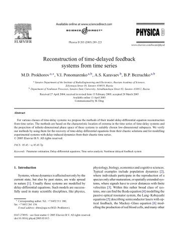 Reconstruction of time-delayed feedback systems from time series