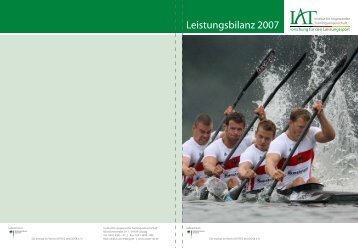Leistungsbilanz 2007 - Institut für Angewandte ...