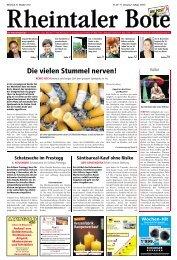 in Thal – Staad – Altenrhein SALINA Bau + Gips ... - Aktuelle Ausgabe