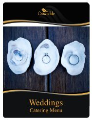 Wedding Packages & Information (pdf) - Crown Isle Resort and Golf ...