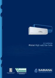 Mistral High wall Fan Coils - BTK