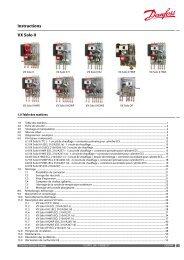 Instructions VX Solo II - Danfoss Chauffage