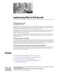 Implementing IPSec in IPv6 Security