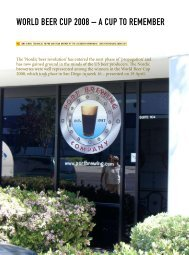 World Beer cup 2008 – a cup to rememBer - Scandbrewrev.dk