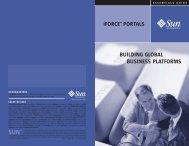BUILDING GLOBAL BUSINESS PLATFORMS iFORCE™ PORTALS
