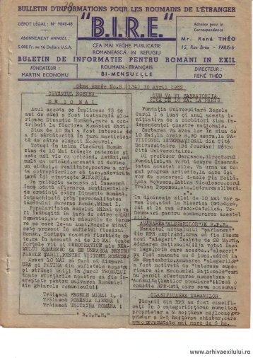 BIRE NR. 8(134) - arhivaexilului.ro
