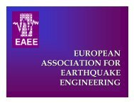 European Association for Earthquake Engineering - EAEE