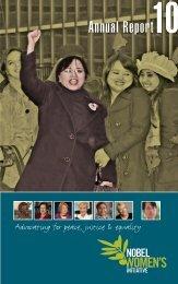 Download the Nobel Women's Initiative Annual Report: 2010