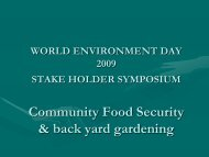 community food security