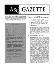 A&S Gazette, Vol. 37, No. 1 - School of Arts and Sciences
