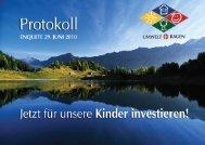 Protokoll Enquete 29. 06. 2010 - Umwelt + Bauen