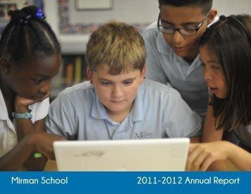 Mirman School 2011-2012 Annual Report
