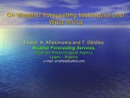 On weather forecasting techniques over West African region - AMMA