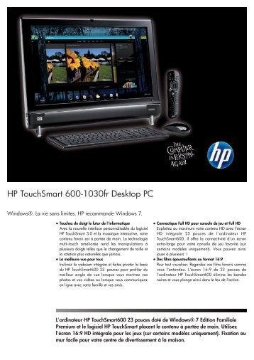 PSG Consumer 3C09 HP Desktop Datasheet - Location Spotlook