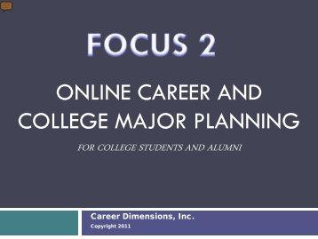 1 FOCUS 2 PowerPoint Student Orientation.pdf - Career Planning