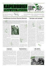 Heilpflanzen kurieren Pharma-Bilanzen Verraten und ... - Biopiraterie