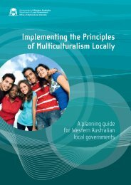 Implementing the Principles of Multiculturalism Locally - Office of ...