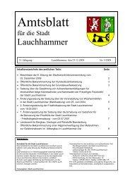 Amtliche Bekanntmachungen - Stadt Lauchhammer