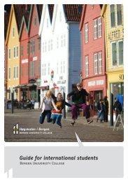 Guide for international students - Høgskolen i Bergen