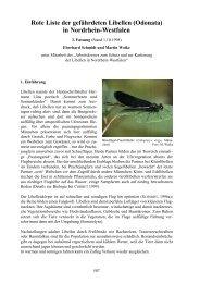 Rote Liste der gefährdeten Libellen (Odonata) in ... - LANUV NRW