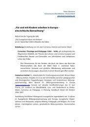 """""""Für und mit Kindern arbeiten in Europa – eine ... - Comenius-Institut"""