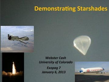 Demonstrating Starshades - Exoplanet Exploration Program - NASA