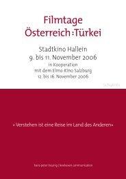 Kurzinfo für Schulen - Filmtage Österreich : Türkei in Hallein