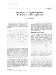 Thrombosis of Drug-Eluting Stents