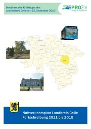 Nahverkehrsplan Landkreis Celle Fortschreibung 2011 bis 2015