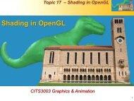 Shading in OpenGL - Undergraduate