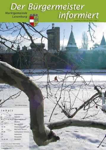 Der Bürgermeister informiert, Folge 1, Februar 2005 - in Laxenburg
