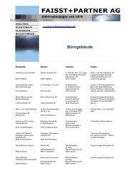 Bürogebäude - Faisst+Partner AG