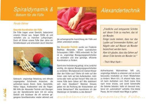 Spiraldynamik & Alexandertechnik - La Vida Magazin
