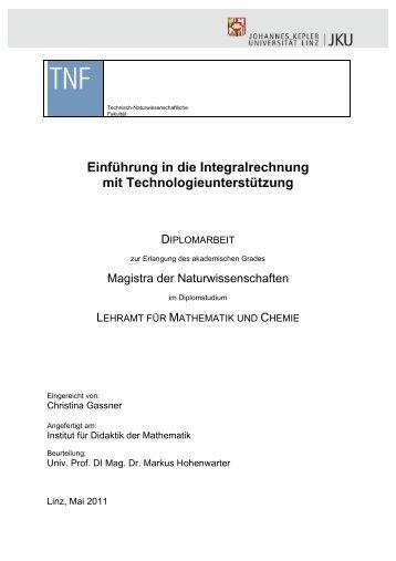 Einführung in die Integralrechnung mit ... - idmthemen