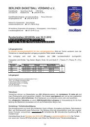 Basislizenz-Lehrgang 2013-01 ALBA - Berliner Basketball Verband