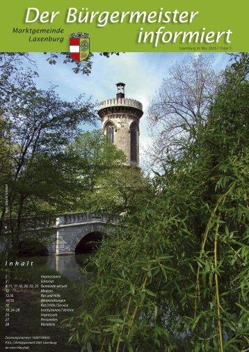 Der Bürgermeister informiert, Folge 3, Mai 2005 (1.86 - in Laxenburg